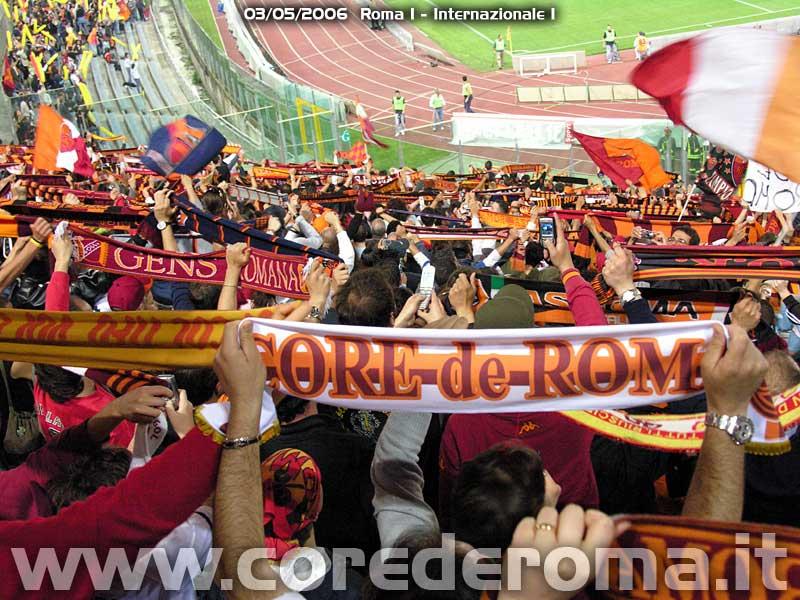 Roma-Inter 2006: sciarpata