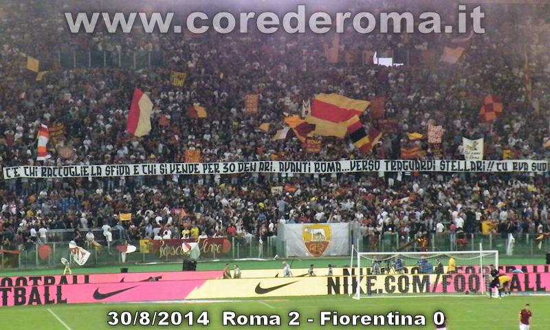 Roma-Fiorentina: la curva sud ''saluta'' Mehdi Benatia...
