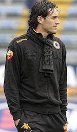 Prima gara ufficiale di Luca Toni con la Roma