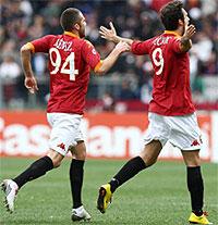 Roma-Catania: Vucinic sigla la vittoria