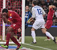 Finale C.I.: Juan si dispera per il gol fallito