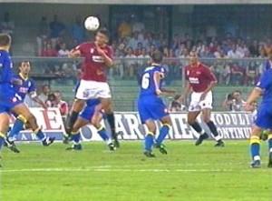 Il gol di Samuel a Verona