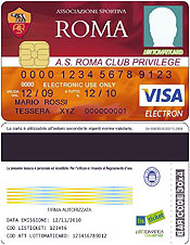 Tessera del tifoso AS Roma