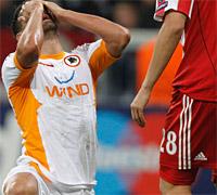Bayern-Roma: Borriello si dispera per il mancato 1 a 1
