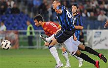 Roma-Inter: Vucinic alla Pruzzo al 92°