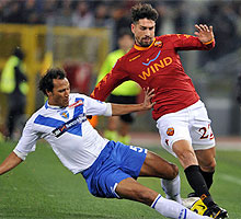 Roma-Brescia: Zebina vs Borriello