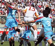 Catania-Roma: il gol di Loria (vanificato da una Roma decimata)