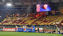 Roma-Milan: la curva sud ricorda De Falchi