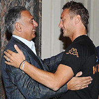 James Pallotta con Francesco Totti