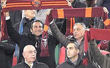 Roma-Milan: sciarpata di Pallotta e Zanzi