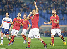 Roma-Genoa: Totti eguaglia Nordhal: 225 gol