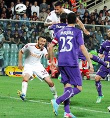 Fiorentina-Roma: al 92' Osvaldo va in cielo e segna