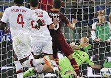 Roma-Milan: Pjanic dribbla tutti e va in gol