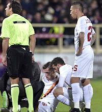 Fiorentina-Roma: Strootman infortunato