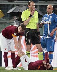 Roma-Empoli: ennesimo infortunio, stavolta tocca a Iturbe