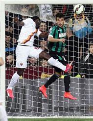 Sassuolo-Roma: il gol di Doumbia