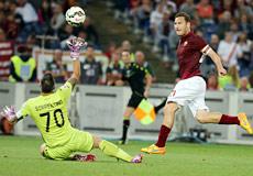L'unica cosa decente della partita: il gol del Capitano