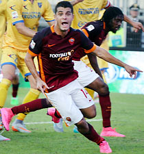 Frosinone-Roma: Iago Falque segna il suo primo gol in giallorosso