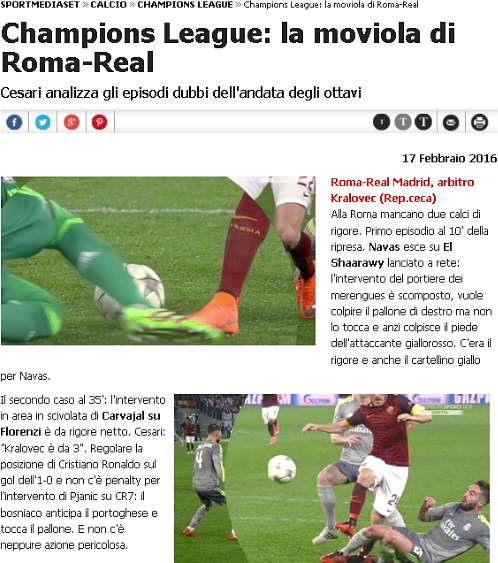 Champions, Roma-Real Madrid: Real Juve d'Europa... Ladri!