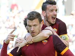 Udinese-Roma: Dzeko + Florenzi e la Roma va!