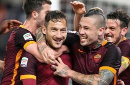 Roma–Torino: Totti monstre