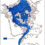 Zona inondata dal Tevere
