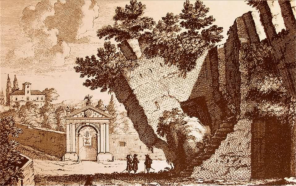 Il tratto 'torto' nel 1600 (incisione di P. Schenck) foto dal blogromaleggendaria.blogspot.it