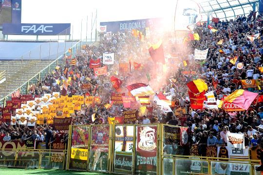 Bologna-Roma: tifo romanista