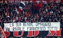 Milan-Roma: bel gesto dei milanisti, che omaggiano Totti