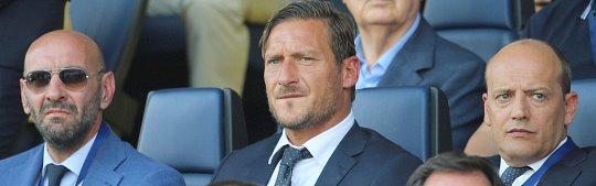Atalanta-Roma: Totti per la prima volta in tribuna da dirigente