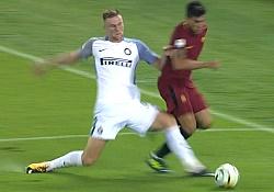 Roma-Inter 1-3: risultato bugiardo e incredibile rigore non dato alla Roma