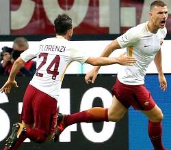 Milan-Roma: Dzeko e Florenzi puniscono un buonissimo Milan