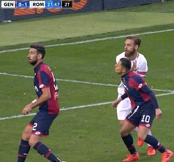 Genoa-Roma: grandissimo rammarico per la follia di DDR che ci costa 2 punti