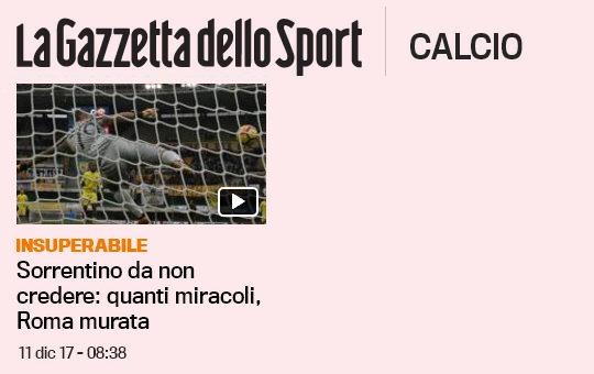 Chievo-Roma: Sorrentino para TUTTO!