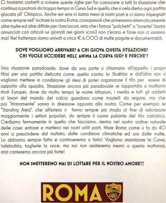 comunicato ROMA 10.3.2018