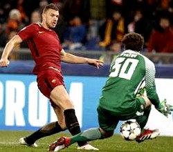Champions League: Dzeko manda a casa lo Shakhtar e si va ai quarti...