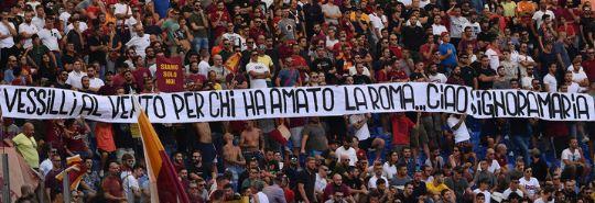 Roma-Chievo: l'unica bella cosa della giornata, lo striscione per ricordare Maria Sensi