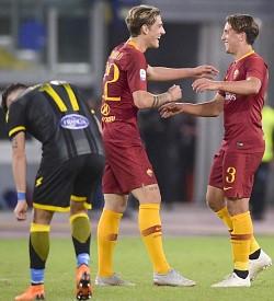 Roma-Frosinone: esordio in campionato per Luca Pellegrini e Zaniolo