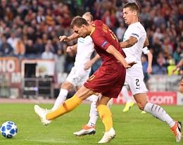 Champions, Roma-Plzen: tripletta di Dzeko