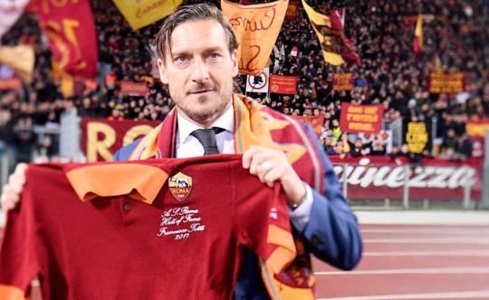 Totti entra nella Hall of Fame