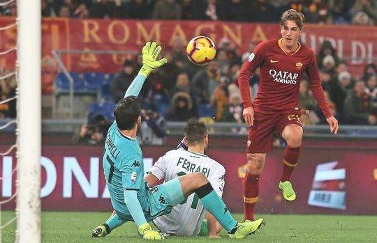 Roma-Sassuolo: il gran gol di Zaniolo