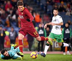 Roma-Sassuolo: Schick in gol!