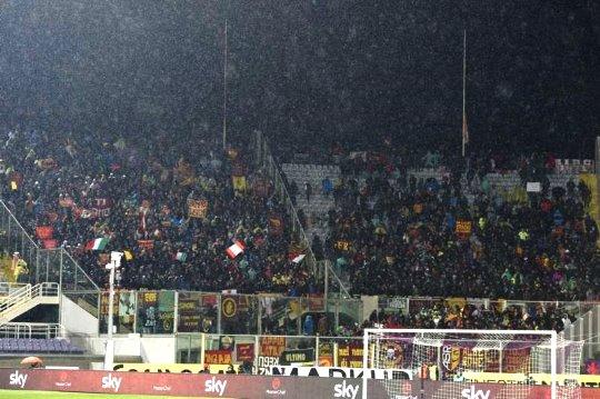 Coppa Italia, Fiorentina-Roma: i quasi 3000 tifosi della Roma