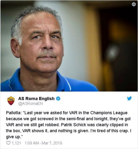 Champions, Porto-Roma: il commento schifato di Pallotta