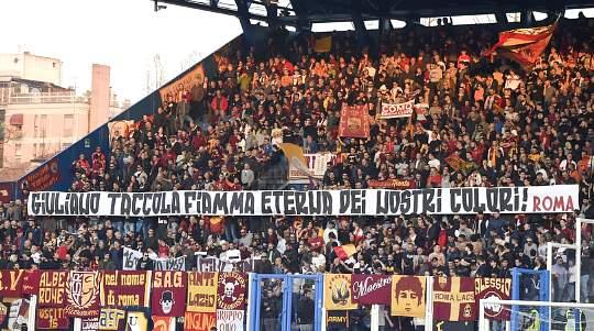 Spal-Roma: striscione in ricordo di Giuliano Taccola